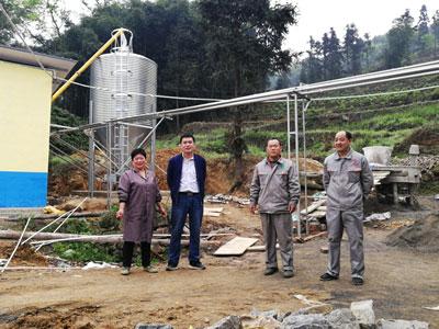 四川珙县猪场料线安装实例